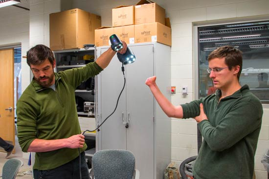 3D scanning for the medical industry and to help make 3D printed prosthetics.