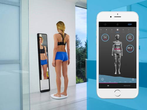 3D body scanners for Fitness. Naked 3D body scanner