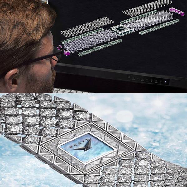 Bijou imprimé en 3D par Graff Diamonds, Collection Snowfall