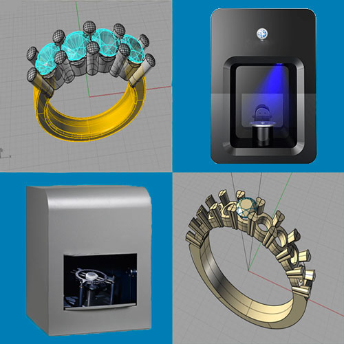Benefits of 3D scanning for jewelry. Use of desktop 3D scanners to 3D scan jewels and get 3D models.