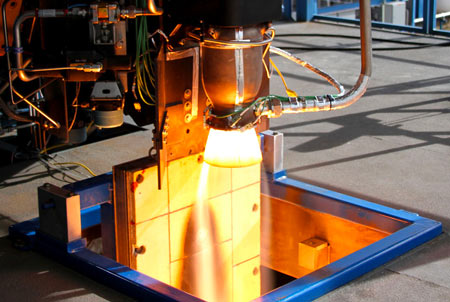 The SpaceX rocket engine using their 3D printed oxidizer valve.
