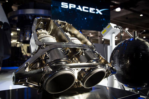 The 3D printed SuperDraco rocket engine by SpaceX