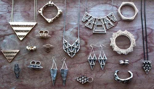 Fathom & Form Jewelry. Une entreprise basée à San Francisco qui utilise l'impression 3D pour réaliser leurs bijoux.