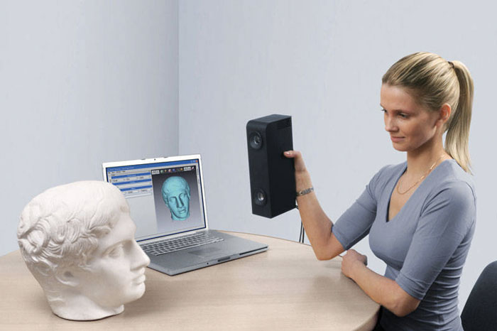 A 3D scanner in action. Image credit: Artec