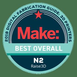Makezine awards 2018 Best Overall Raise3D N2