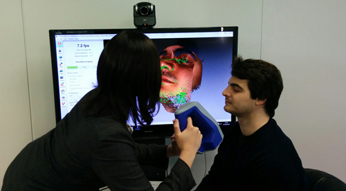 Artec Space Spider face 3D scan process