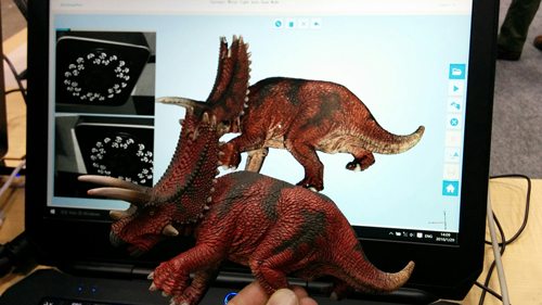 Result of the triceratops 3D scan with the EinScan-Pro