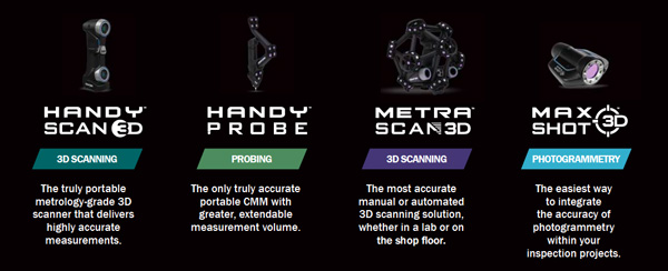 The Creaform quality control solutions for every part size.