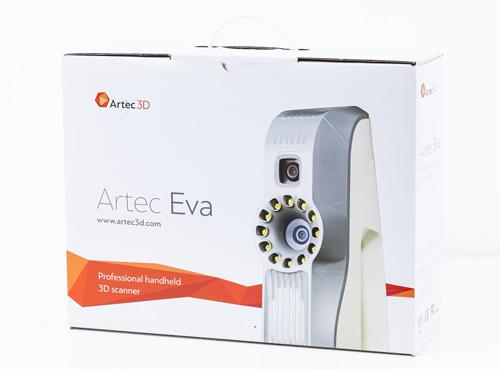 The new Artec Eva cardboard case. Picture by Artec.