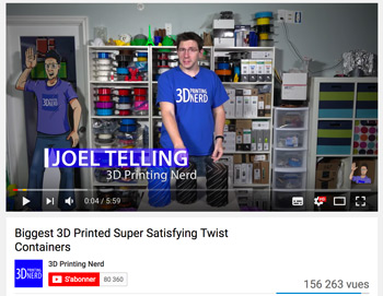 Best 3D printing YouTube channels 3D printing Nerd. Joel is presenting us many fun videos.