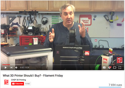 The best 3D printing YouTube channels CHEP is explaining how to fix our 3D printers.