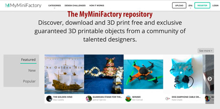 MyMiniFactory download free models for 3d printing