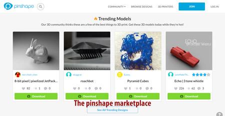 Free STL files on Pinshape