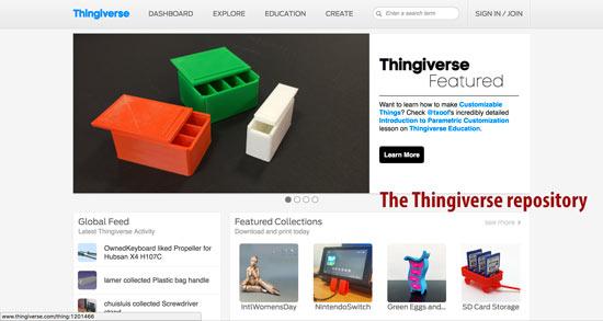 Thingiverse free printable STL files.