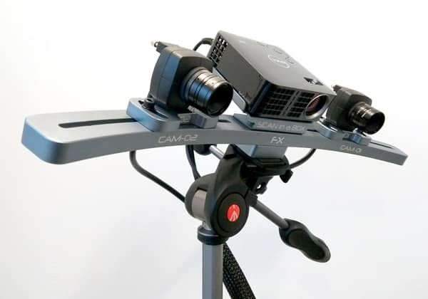 The SIAB-FX 3D scanner on the tripod.