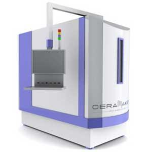 The 3DCeram CERAMAKER is a ceramic additive manufacturing system.