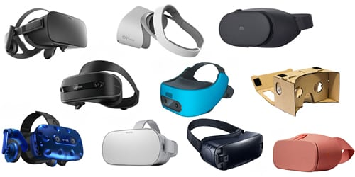 Types of VR headsets: PC VR, standalone VR, smartphone VR
