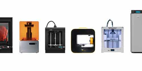 3D printers categories and 3D printer types