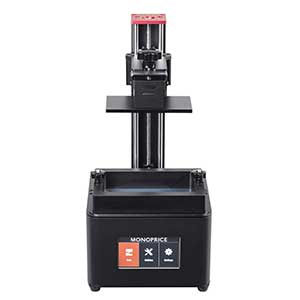 The Monoprice Mini Deluxe SLA 3D printer is one of the best affordable resin 3D printer solutions on the market.