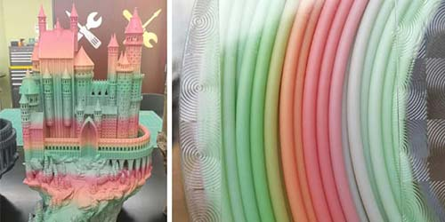 Multicolor 3D printer filament – taste the rainbow!