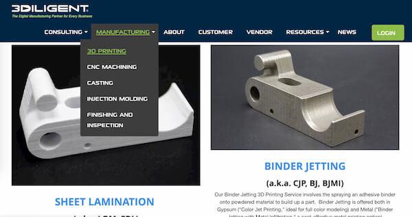 3Diligent 3D printing service online