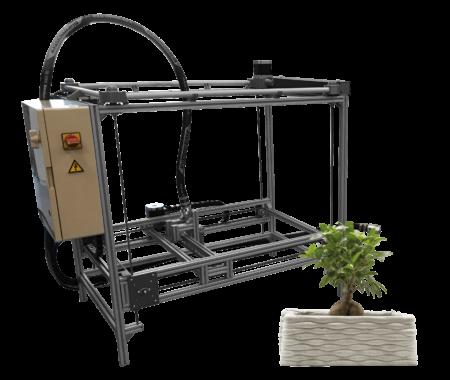 Concrete Mini Printer Constructions-3D - Construction