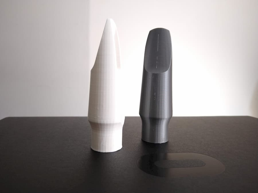 3D printed scan result - saxophone mouthpiece