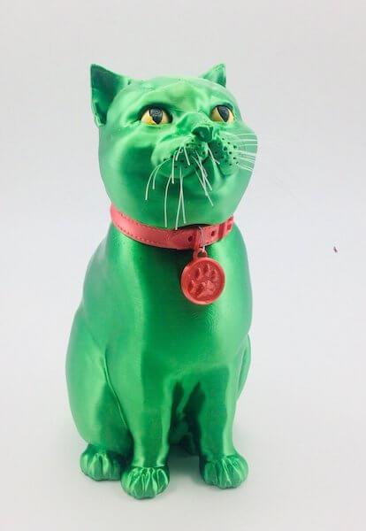 Louise Driggers Schrodinky cat green Polyalchemy filament