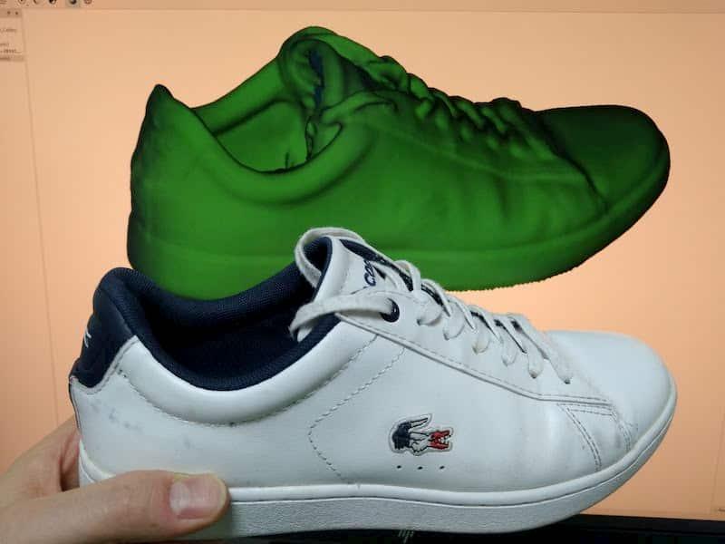Tennis shoe 3D scan