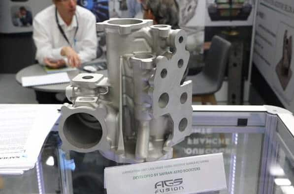 Safran Aero Booster certified metal 3D part