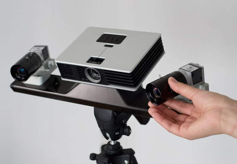 A stationary 3D scanner from Polyga.