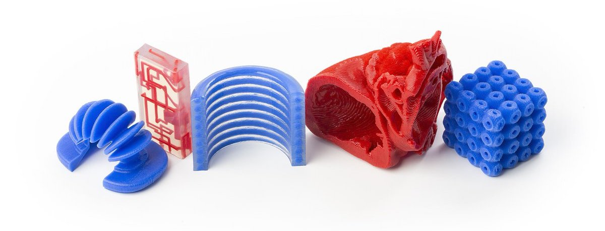 Range of silicone 3D printed parts